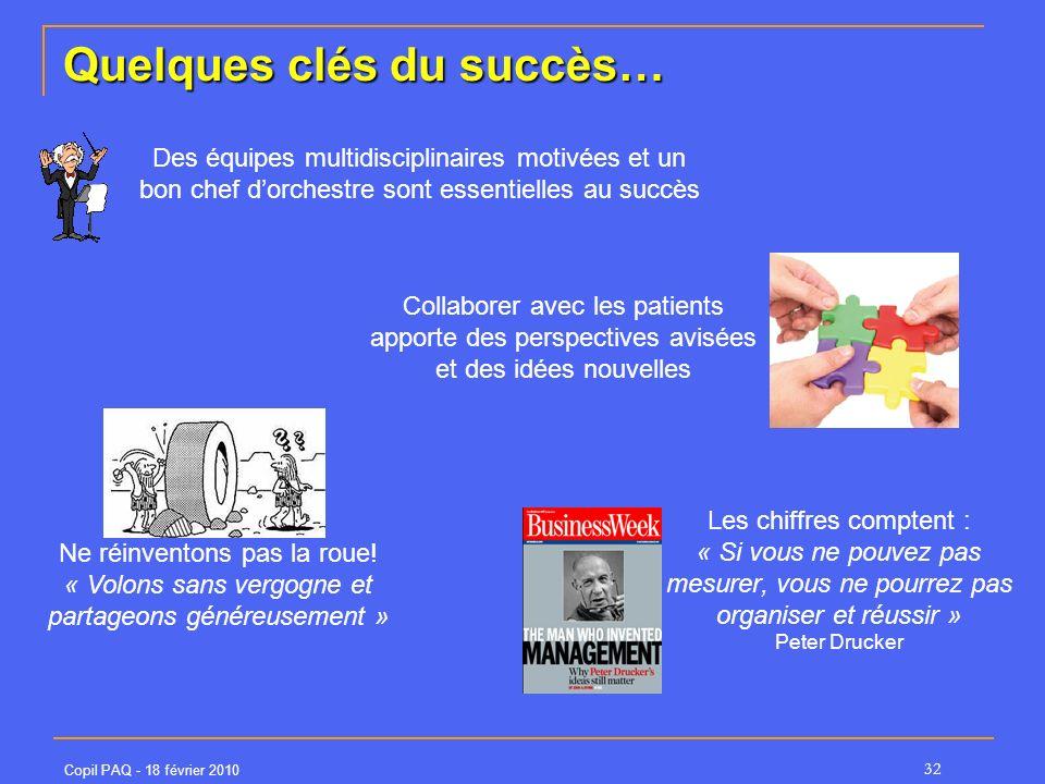 Quelques clés du succès…