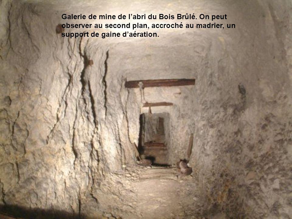 Galerie de mine de l'abri du Bois Brûlé