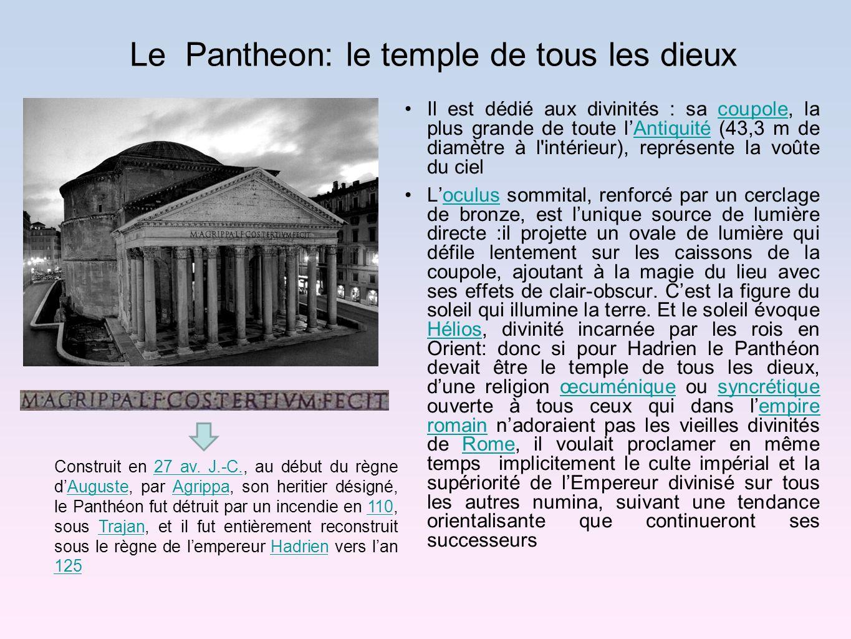 Le Pantheon: le temple de tous les dieux