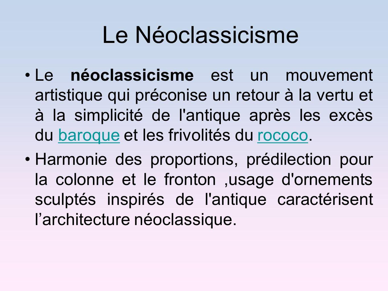 Le Néoclassicisme