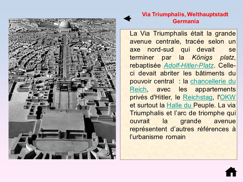 Via Triumphalis, Welthauptstadt
