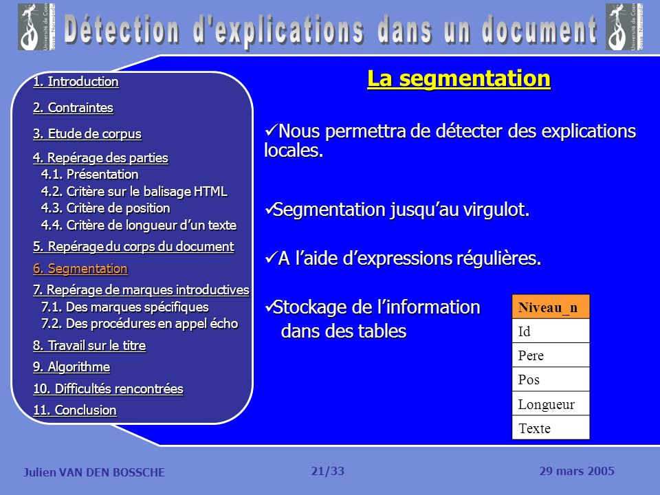 Détection d explications dans un document
