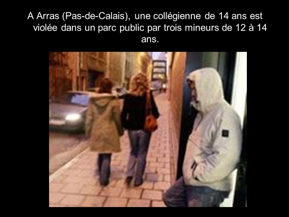 A Arras (Pas-de-Calais), une collégienne de 14 ans est violée dans un parc public par trois mineurs de 12 à 14 ans.