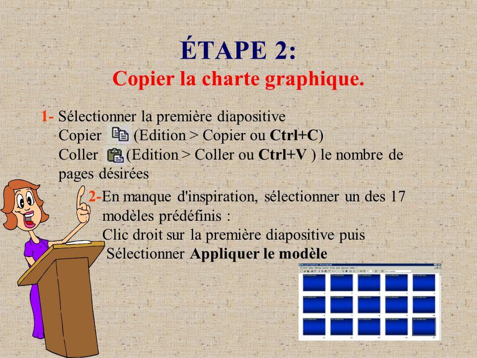 ÉTAPE 2: Copier la charte graphique.