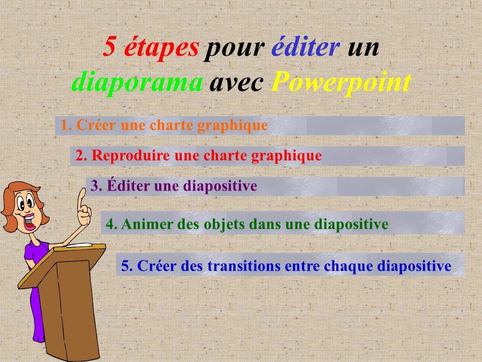 5 étapes pour éditer un diaporama avec Powerpoint