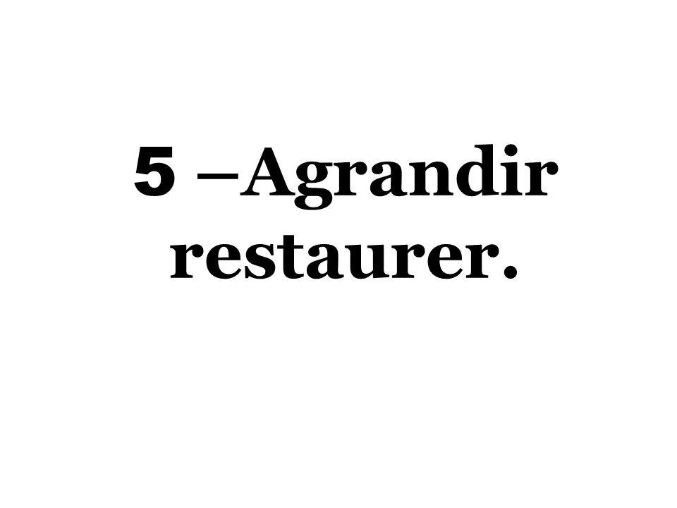 5 –Agrandir restaurer.