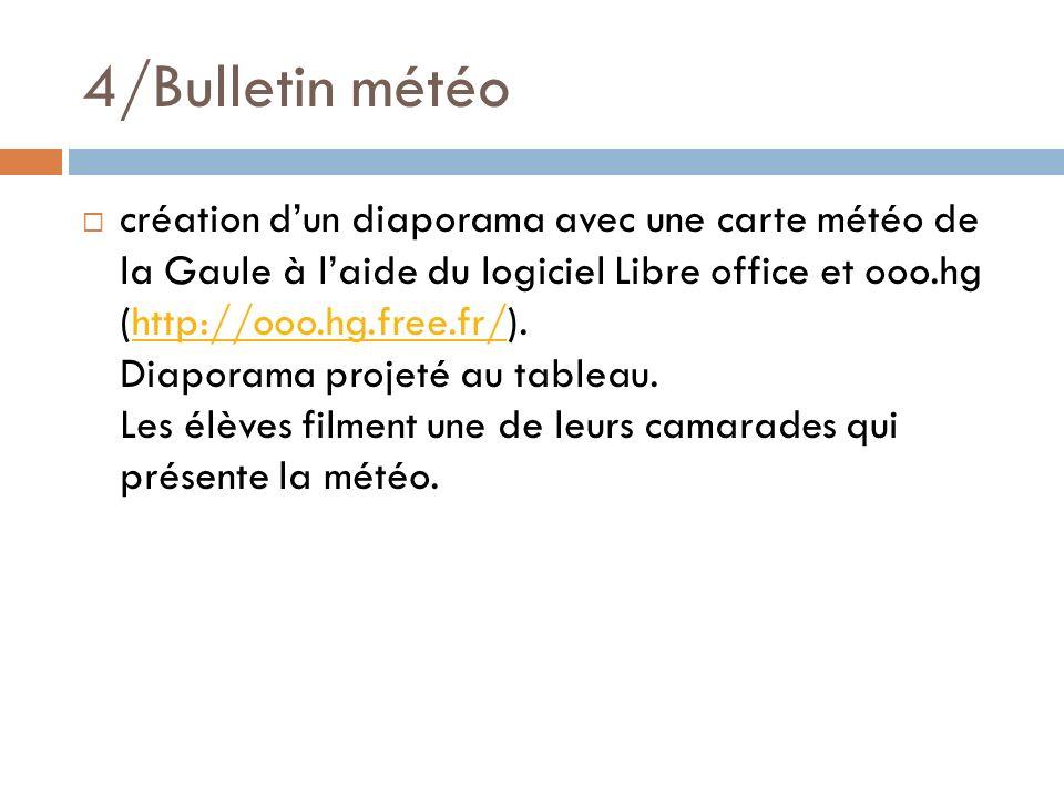4/Bulletin météo