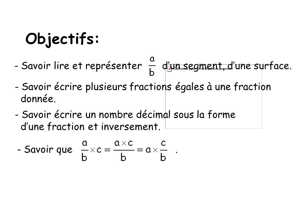 Objectifs: Savoir lire et représenter d'un segment, d'une surface.