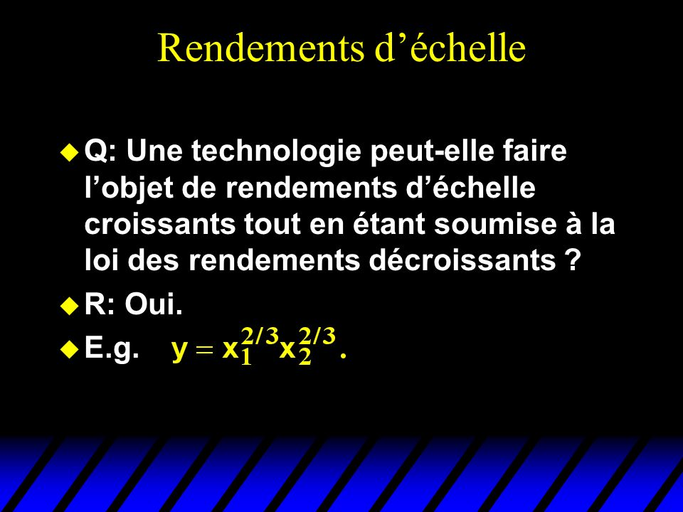 Rendements d'échelle