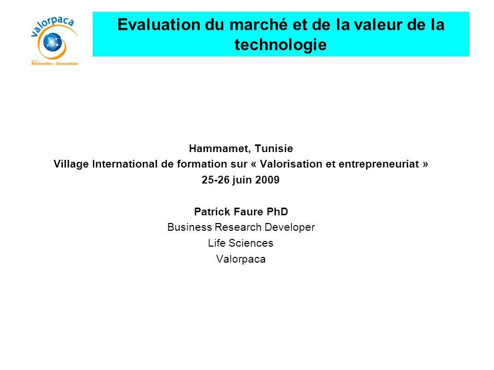 Evaluation du marché et de la valeur de la technologie