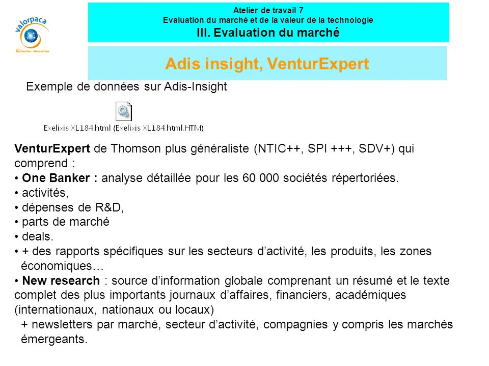 Adis insight, VenturExpert