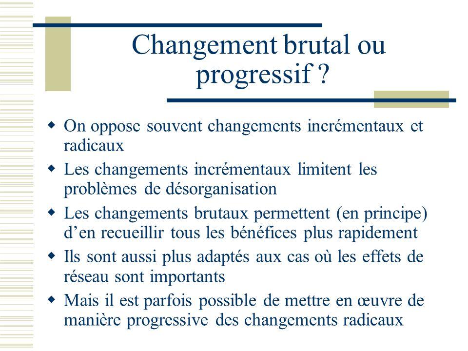 Changement brutal ou progressif