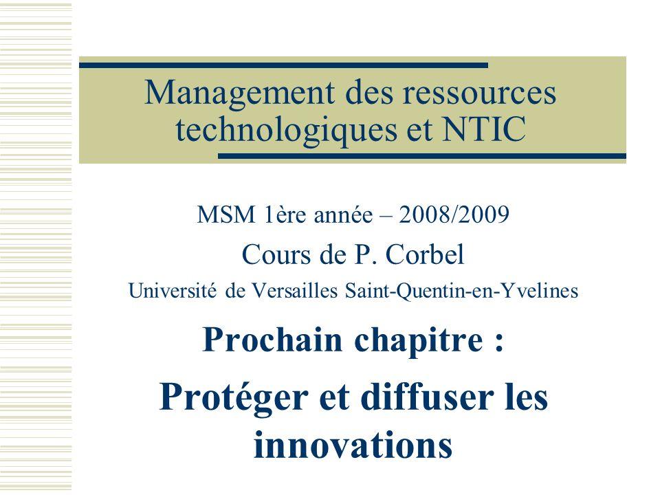 Management des ressources technologiques et NTIC
