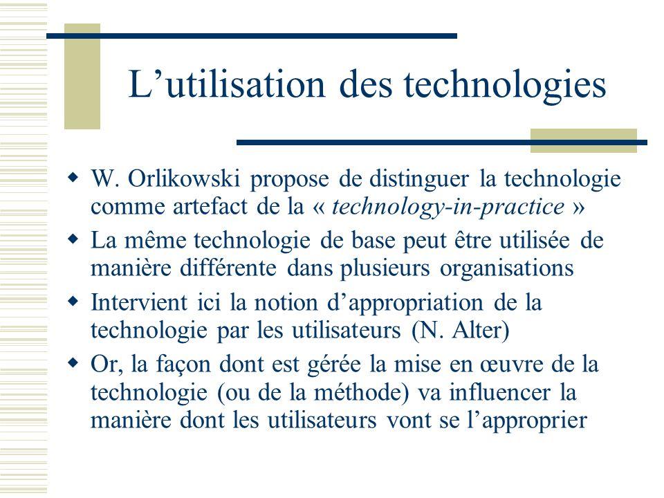 L'utilisation des technologies