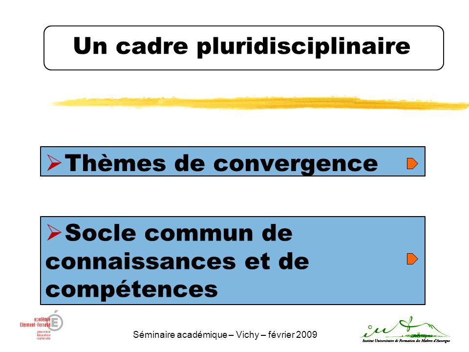 Un cadre pluridisciplinaire
