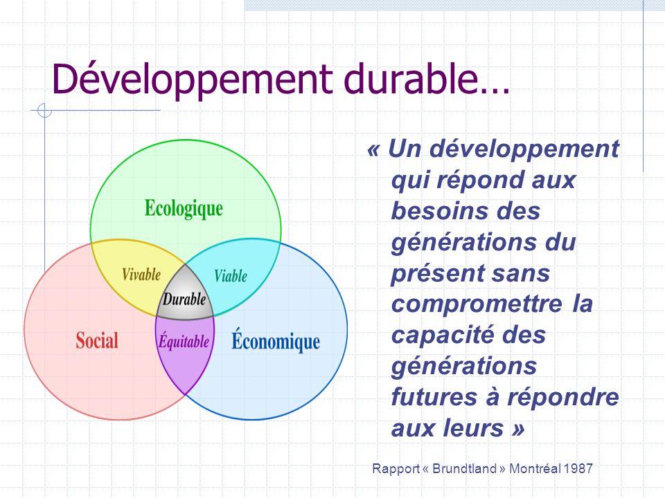 Développement durable…