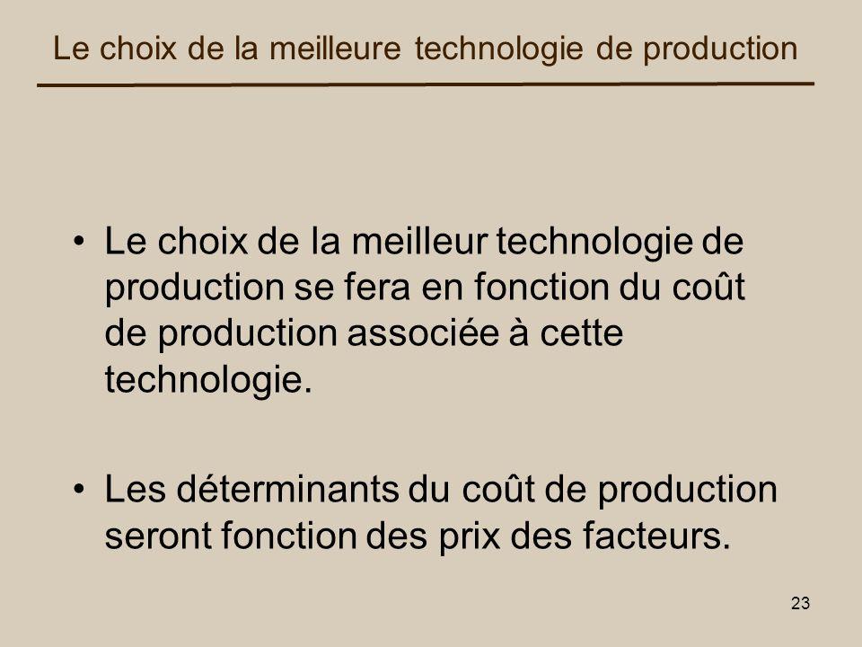 Le choix de la meilleure technologie de production