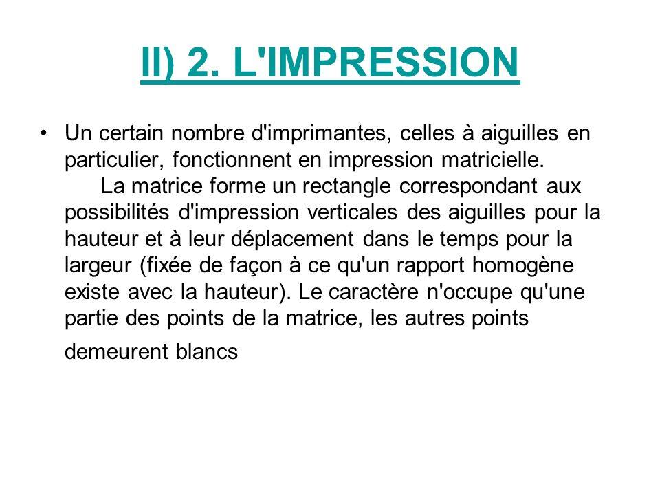II) 2. L IMPRESSION