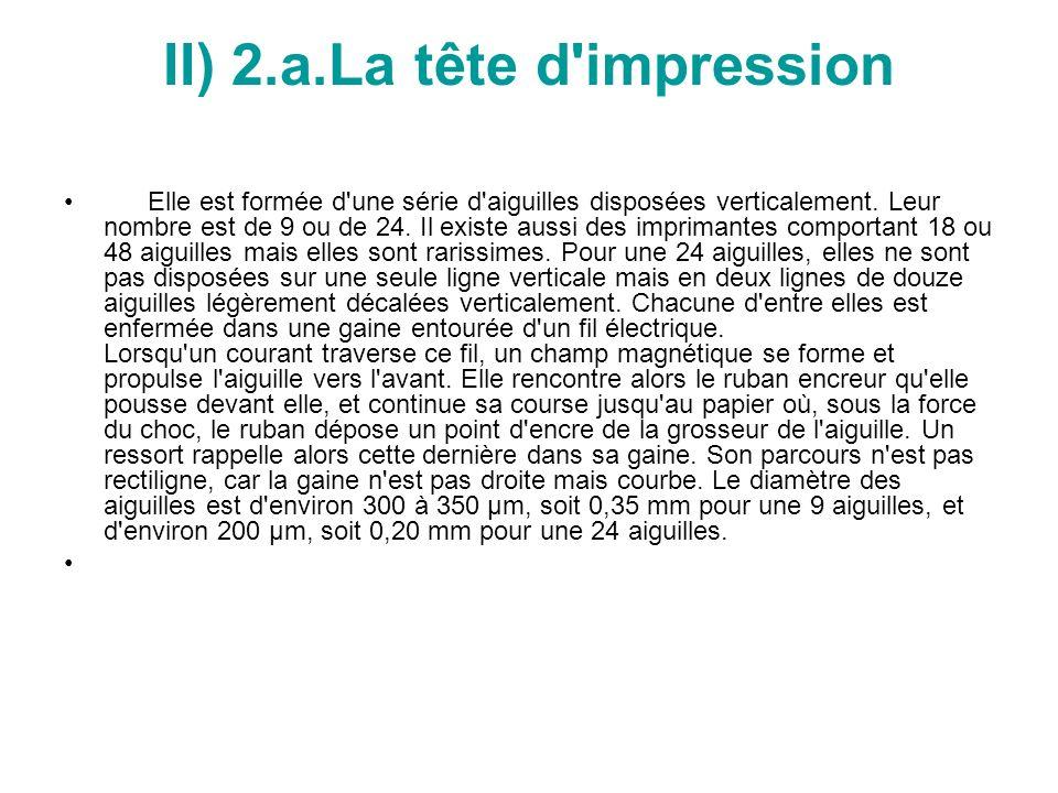 II) 2.a.La tête d impression