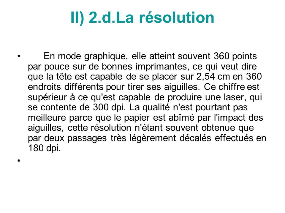 II) 2.d.La résolution