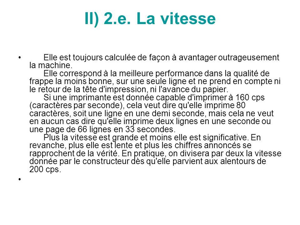 II) 2.e. La vitesse