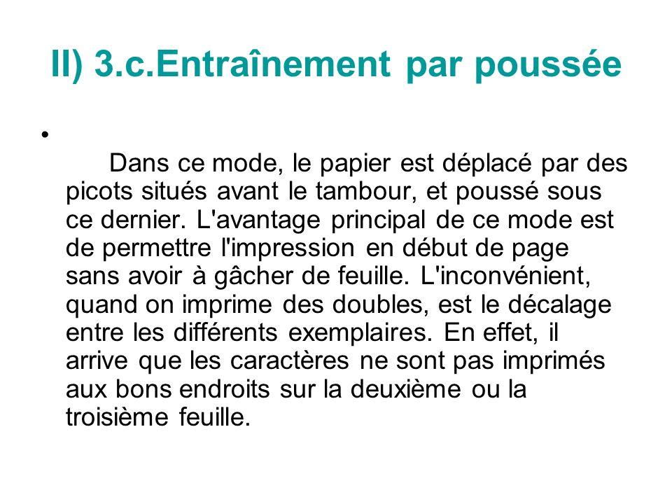 II) 3.c.Entraînement par poussée
