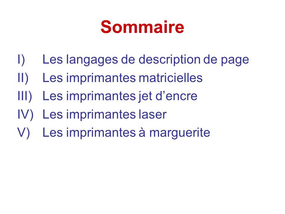 Sommaire Les langages de description de page