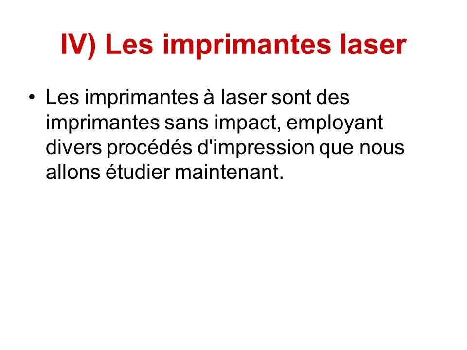 IV) Les imprimantes laser