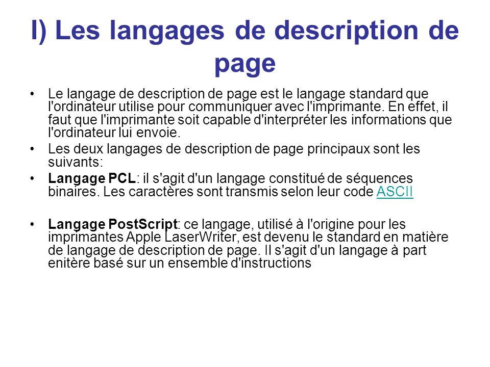 I) Les langages de description de page