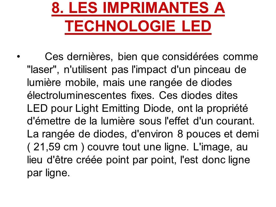8. LES IMPRIMANTES A TECHNOLOGIE LED