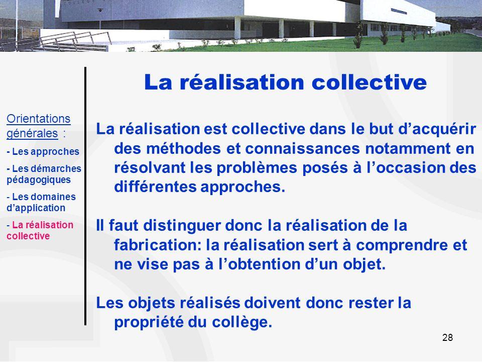 La réalisation collective
