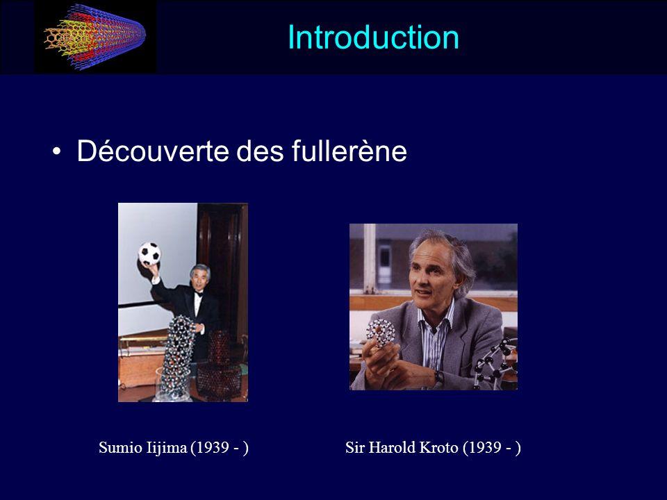 Introduction Découverte des fullerène Sumio Iijima (1939 - )