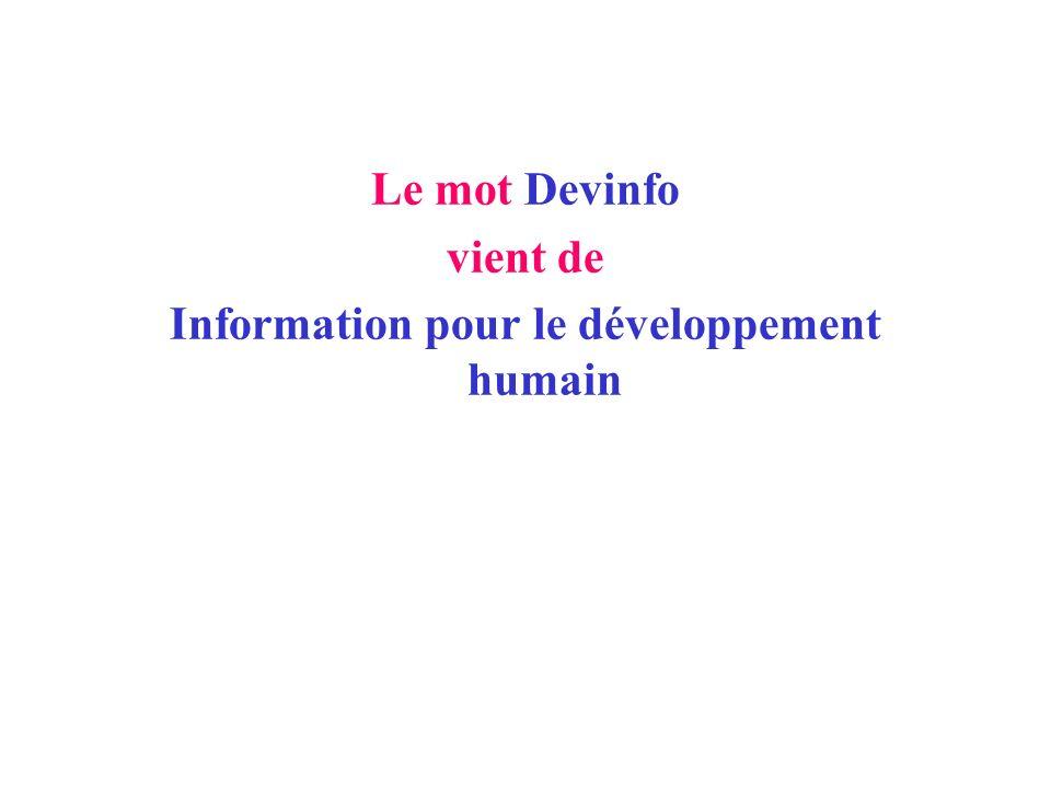 Information pour le développement humain