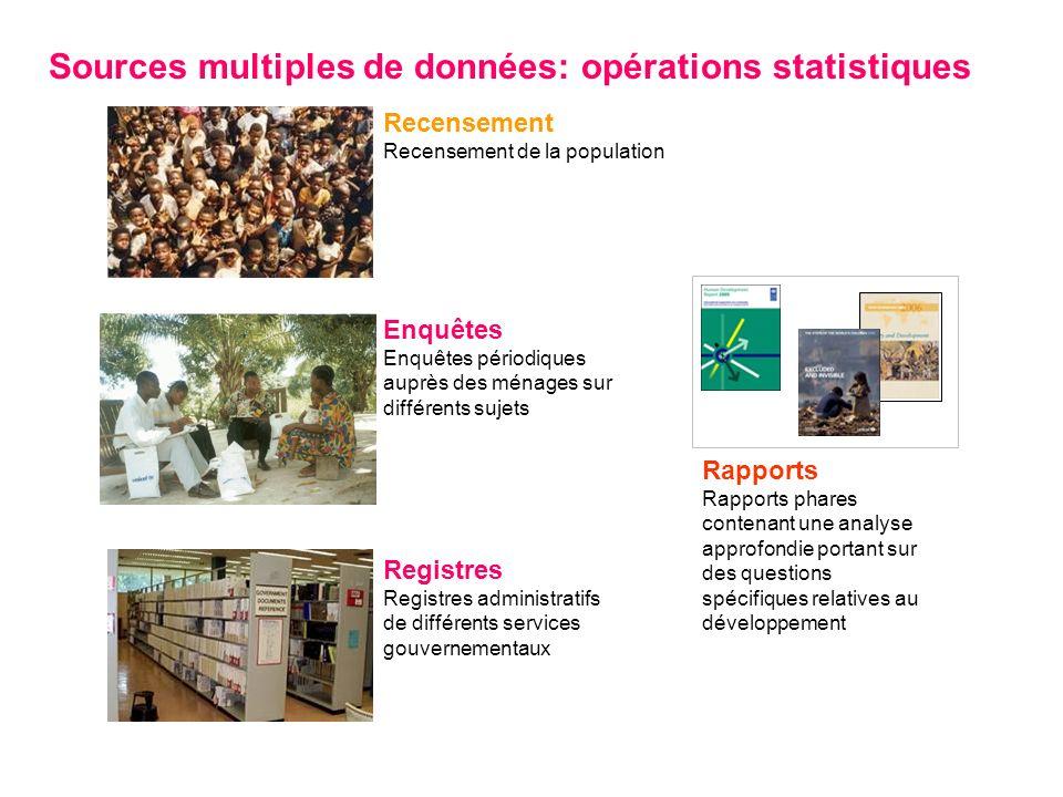 Sources multiples de données: opérations statistiques