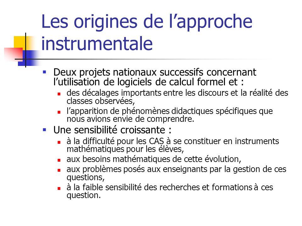 Les origines de l'approche instrumentale