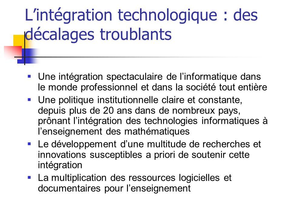 L'intégration technologique : des décalages troublants
