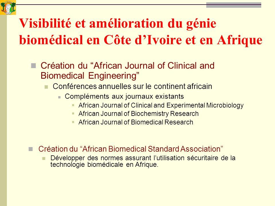 Visibilité et amélioration du génie biomédical en Côte d'Ivoire et en Afrique