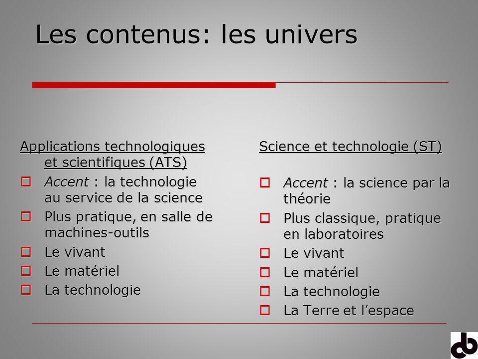 Les contenus: les univers