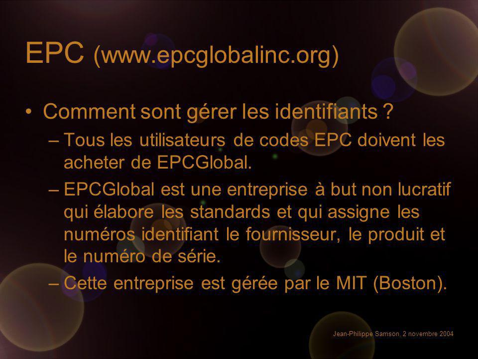 EPC (www.epcglobalinc.org)