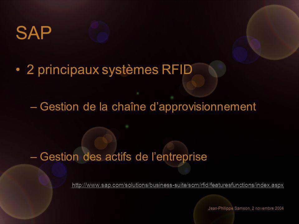 SAP 2 principaux systèmes RFID