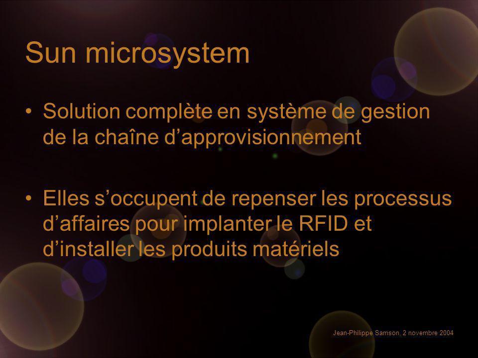 Sun microsystem Solution complète en système de gestion de la chaîne d'approvisionnement.