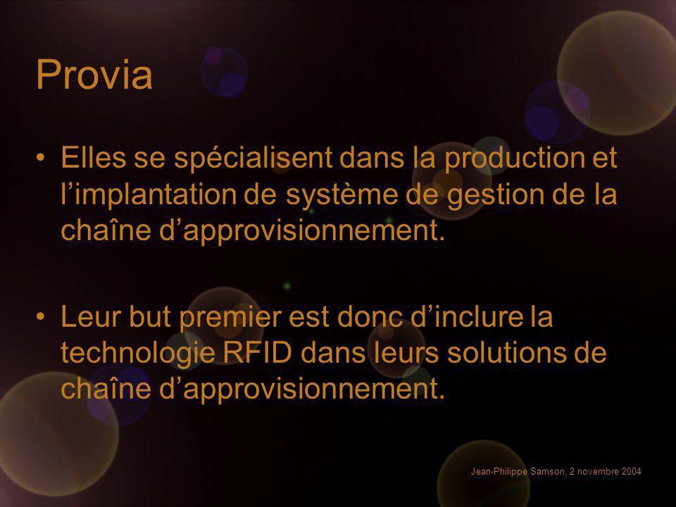 Provia Elles se spécialisent dans la production et l'implantation de système de gestion de la chaîne d'approvisionnement.