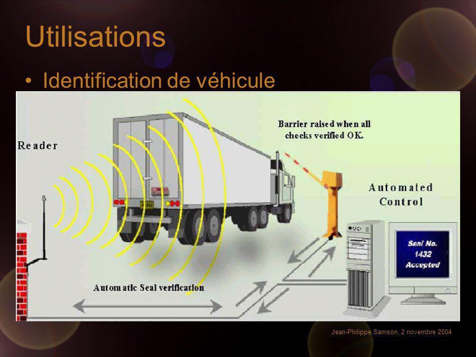 Utilisations Identification de véhicule