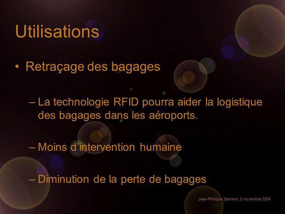 Utilisations Retraçage des bagages