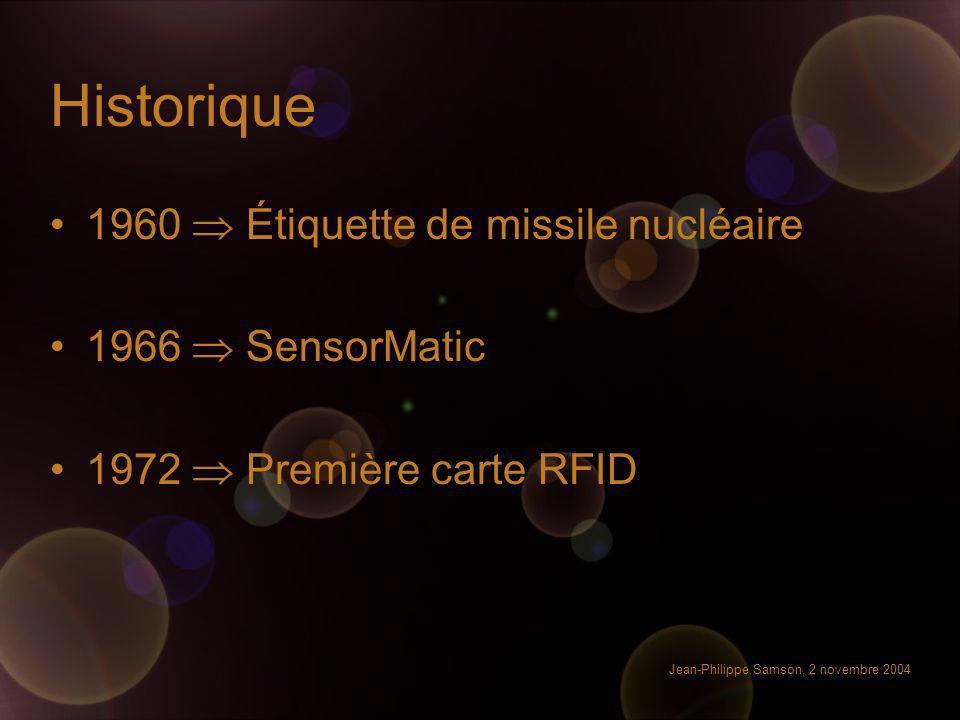 Historique 1960  Étiquette de missile nucléaire 1966  SensorMatic