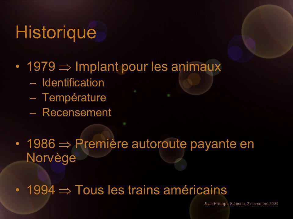 Historique 1979  Implant pour les animaux
