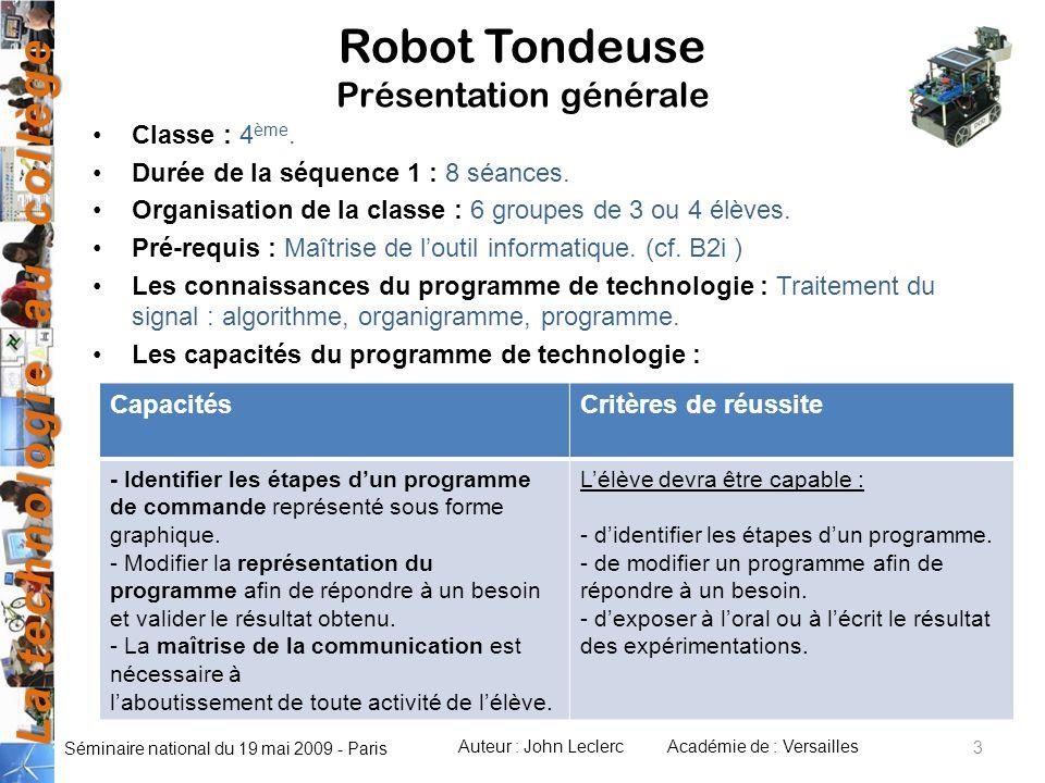 Robot Tondeuse Présentation générale