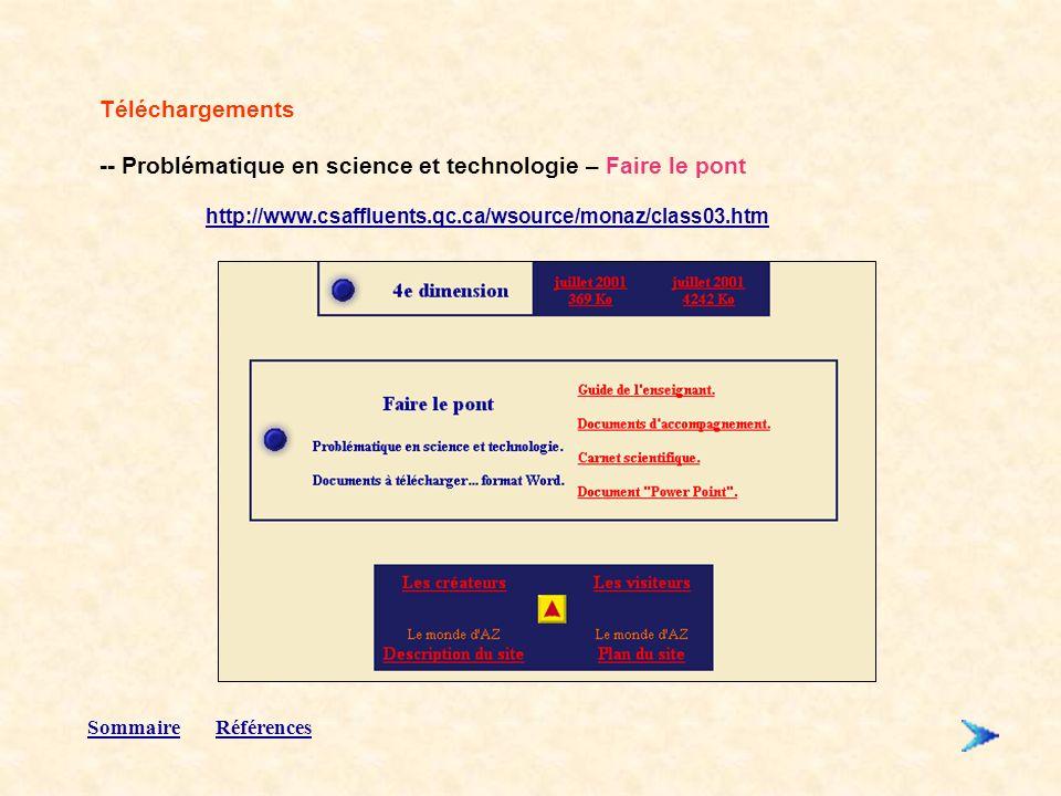 -- Problématique en science et technologie – Faire le pont