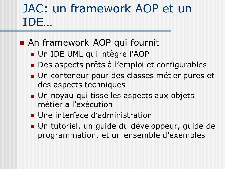 JAC: un framework AOP et un IDE…