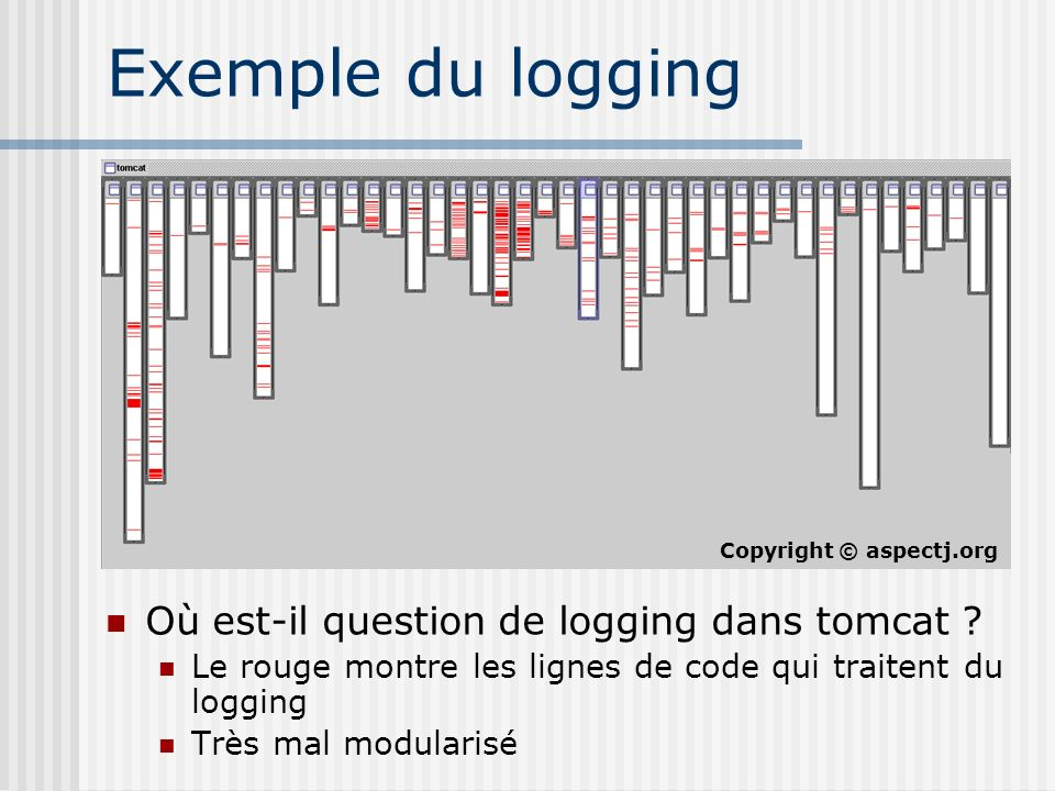 Exemple du logging Où est-il question de logging dans tomcat